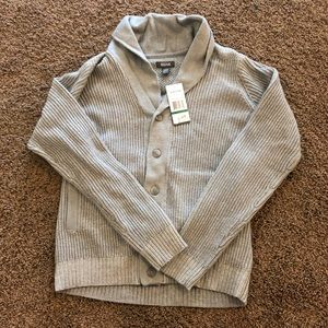 Kenneth Cole Reaction Button Sweater L Grey NEW